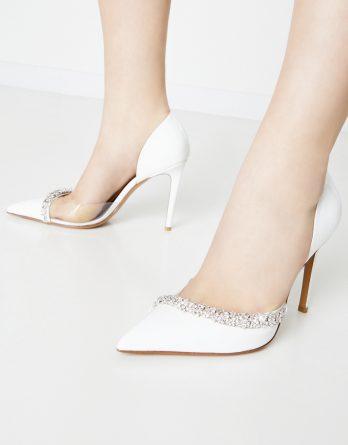 ALEXANDRE VAUTHIER - Białe szpilki Ane z kryształami Swarovskiego kolor Biały