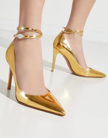 ALEXANDRE VAUTHIER - Złote szpilki Aoki kolor Złoty