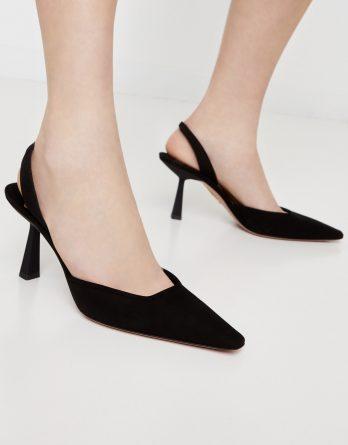 AQUAZZURA - Czarne sandały na szpilce Maia kolor Czarny
