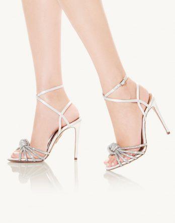 AQUAZZURA - Sandały na szpilce Celeste kolor Biały