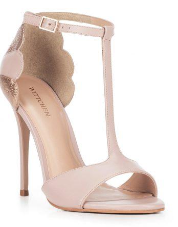 Buty damskie kolor różowo - złoty