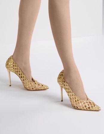 CASADEI - Złote szpilki Versilia kolor Złoty