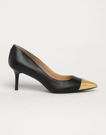 Lauren Ralph Lauren - Szpilki skórzane kolor czarny