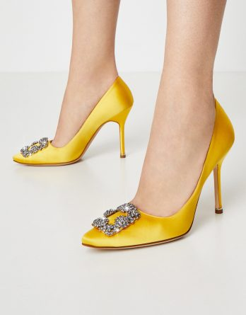 MANOLO BLAHNIK - Żółte szpilki Hangisi kolor Żółty