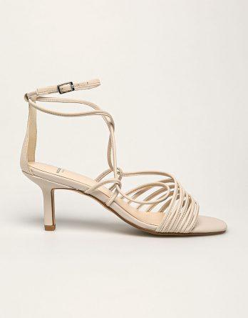 Vagabond - Sandały skórzane Amanda kolor kremowy